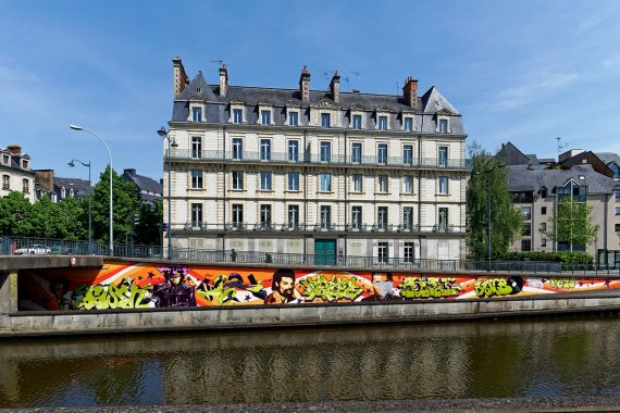 Rennes rues et architecture-Quai saint Cast