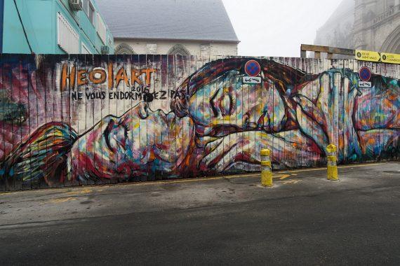 Rennes street art-Place saint Anne