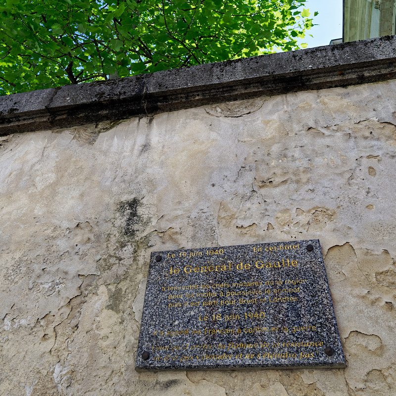 Plaque commémorative rue Corbin à Rennes