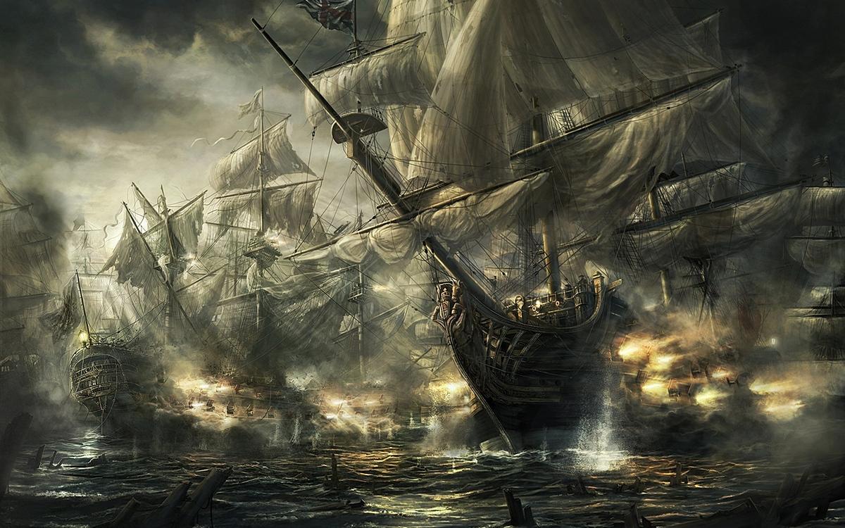Illustration de la bataille de Trafalgar